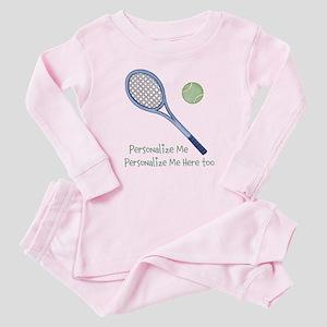 Personalized Tennis Baby Pajamas