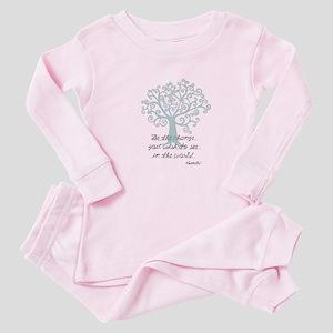Be the Change Tree Baby Pajamas