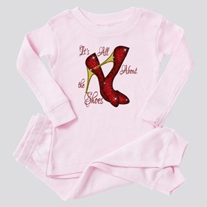 Red Ruby Slippers Baby Pajamas