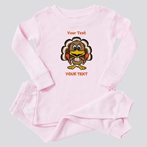 Personalize Little Gobbler Baby Pajamas