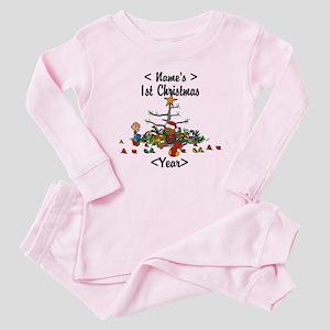 Personalized 1st Christmas Baby Pajamas
