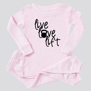 Live, Love, Lift Baby Pajamas