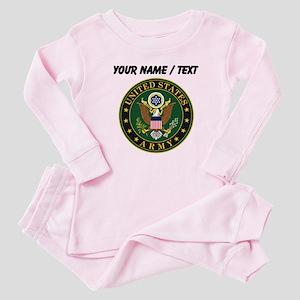 Custom U.S. Army Symbol Baby Pajamas