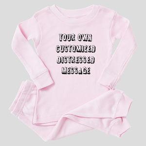 Custom Distressed Message Baby Pajamas