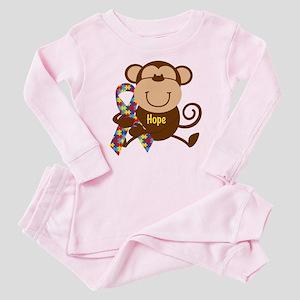 Monkey Autism Hope Baby Pajamas
