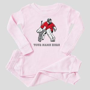 Custom Hockey Goalie Baby Pajamas