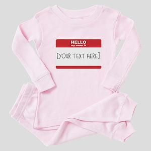 Name Tag Big Personalize It Baby Pajamas