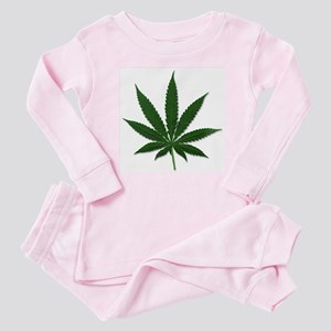 Marijuana Pot Leaf Baby Pajamas