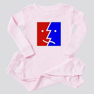 comedy tragedy square 01 Baby Pajamas