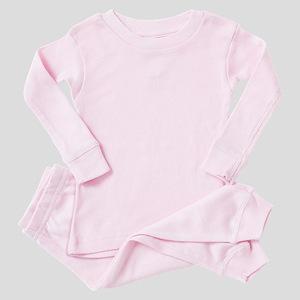 aventador orange color Baby Pink Pajamas
