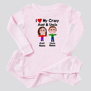 Personalize crazy aunt uncle Baby Pajamas