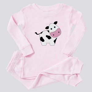 Cute Black and White Cow Baby Pajamas