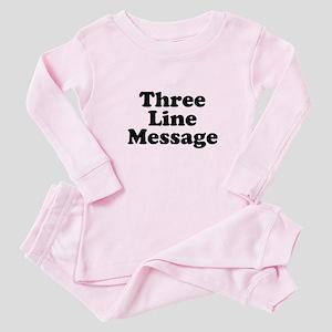Big Three Line Message Baby Pajamas