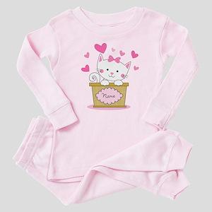 Personalized Kitty Love Baby Pajamas