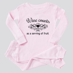 Wine counts as a serving of fruit Baby Pajamas