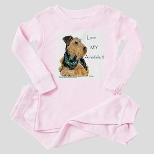 Love my Airedale Baby Pajamas