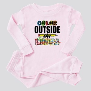 Color Outside The Lines Baby Pajamas