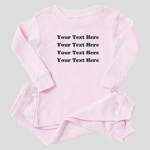 Custom add text Baby Pajamas