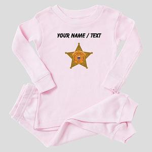 Deputy Sheriff Badge (Custom) Baby Pajamas