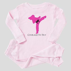 Martial Artist Baby Pink Pajamas