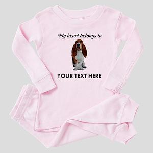 Personalized Basset Hound Baby Pajamas