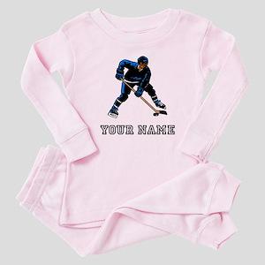 Hockey Player (Custom) Baby Pajamas