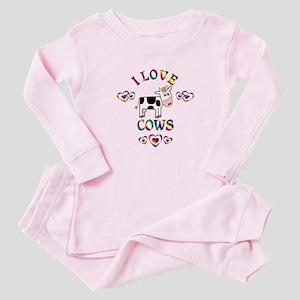 I Love Cows Baby Pajamas