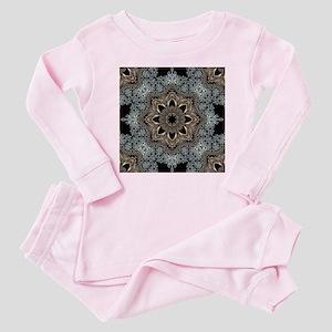 bohemian floral mandala hipster Baby Pajamas