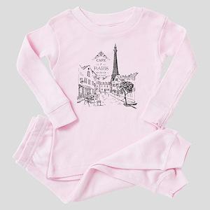 Cafe Paris Baby Pajamas