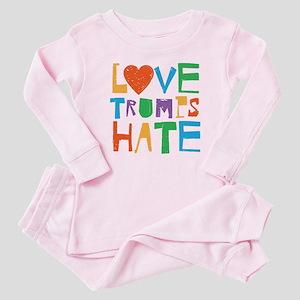 Love Trumps Hate Baby Pajamas