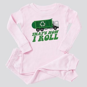 Recycling Truck Baby Pajamas
