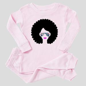 hologram afro girl Baby Pajamas