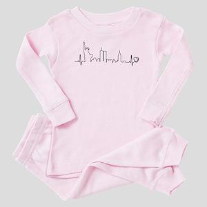 New York Heartbeat (Heart) Baby Pajamas