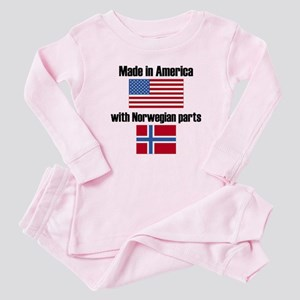 Made In America With Norwegian Parts Baby Pajamas