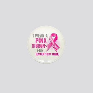 Personalized Breast Cancer Custom Mini Button (10