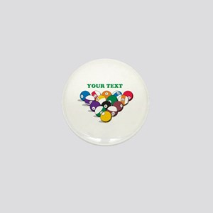 Personalized Billiard Balls Mini Button (10 pack)