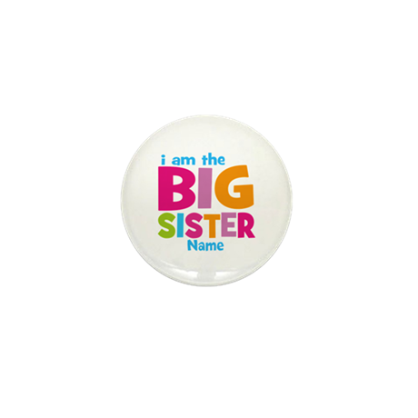 Big Sister Personalized Mini Button (10 pack)