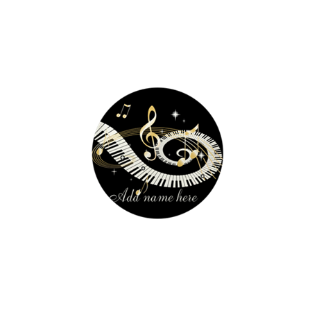 Personalized Piano Musical gi Mini Button (10 pack