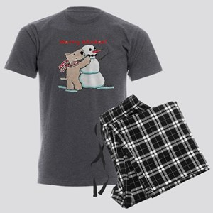 Wheaten Snowman Men's Dark Pajamas