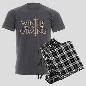Winter Is Coming Men's Charcoal Pajamas