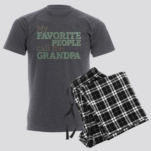 Call Me Grandpa Men's Charcoal Pajamas