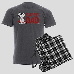 Peanuts: Super Dad Men's Charcoal Pajamas