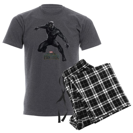b3b190567a77 Black Panther Pose Men's Charcoal Pajamas by Marvel - CafePress