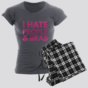 I Hate People And Bras Women's Dark Pajamas