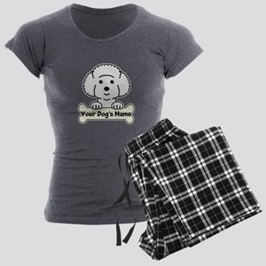 Personalized Bichon Frise Women's Charcoal Pajamas