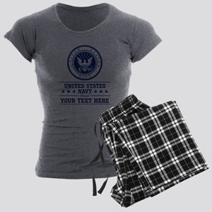 U.S. Navy Proud Personalize Women's Light Pajamas