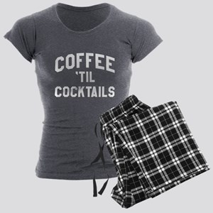 Coffee Til Cocktails Women's Dark Pajamas