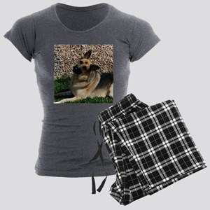 Quizzical German Shepherd Dog Women's Light Pajama