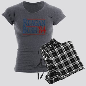 Reagan Bush 84 retro Women's Charcoal Pajamas