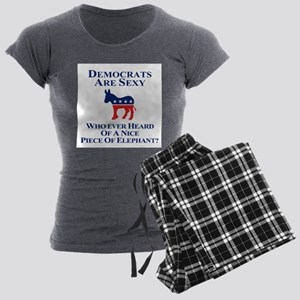 Democrats Are Sexy Women's Charcoal Pajamas